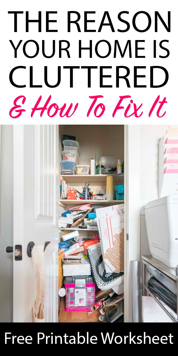 Cluttered Closet - Getting to the root cause of clutter
