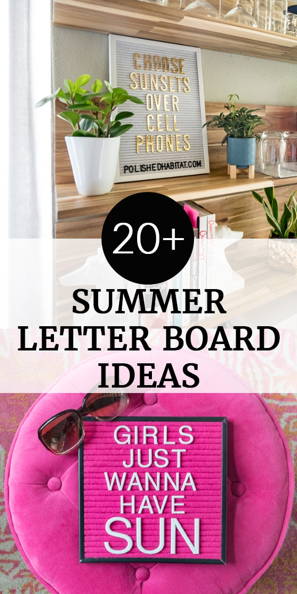 20 summer letter boards ideas - Girls Just Wanna Have Sun on pink letterboard
