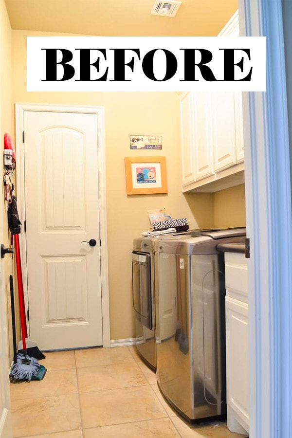 Beige Laundry Room Before Makeover