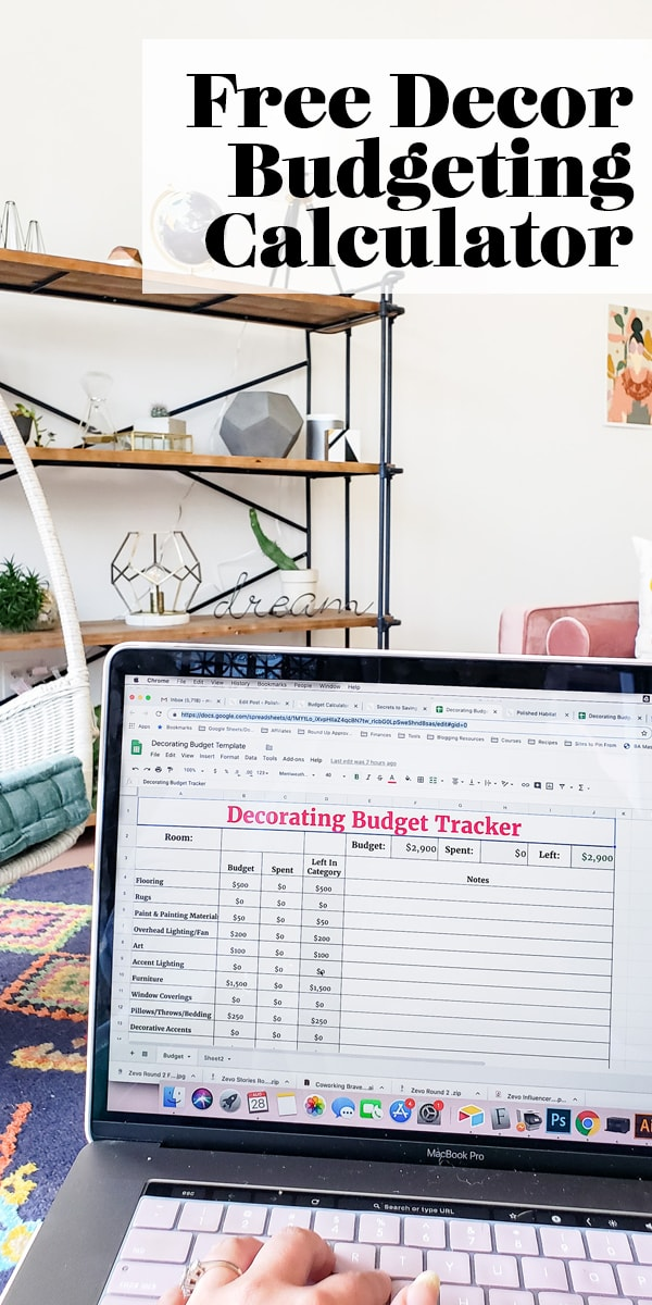 Free Decor Budgeting Calculator