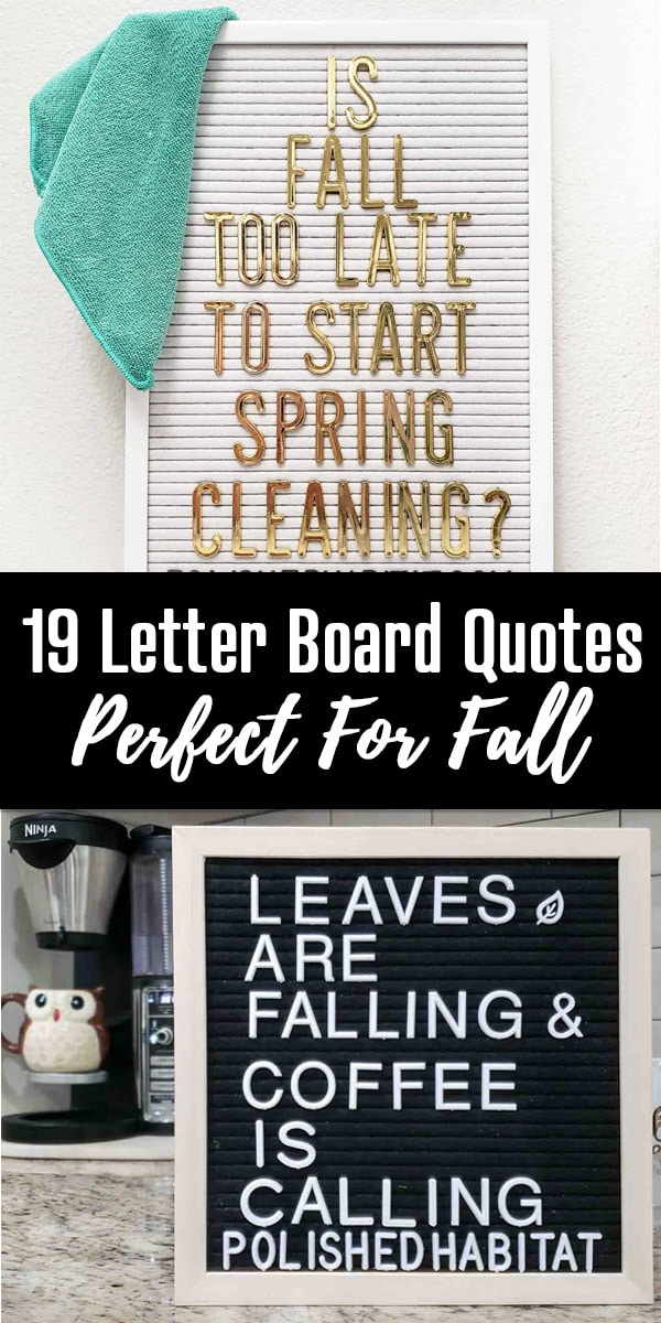 Fall Letter Board Quotes & Sayings - Polished Habitat