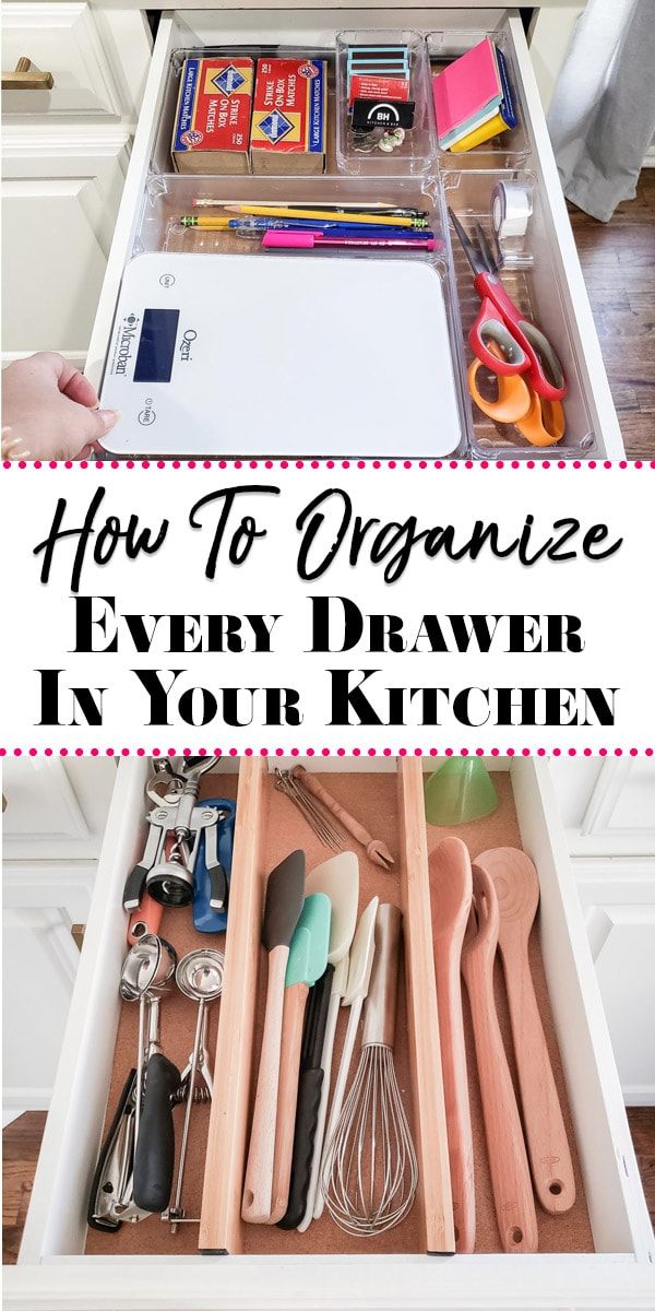 Organized Kitchen Baking Tools & Junk Drawer