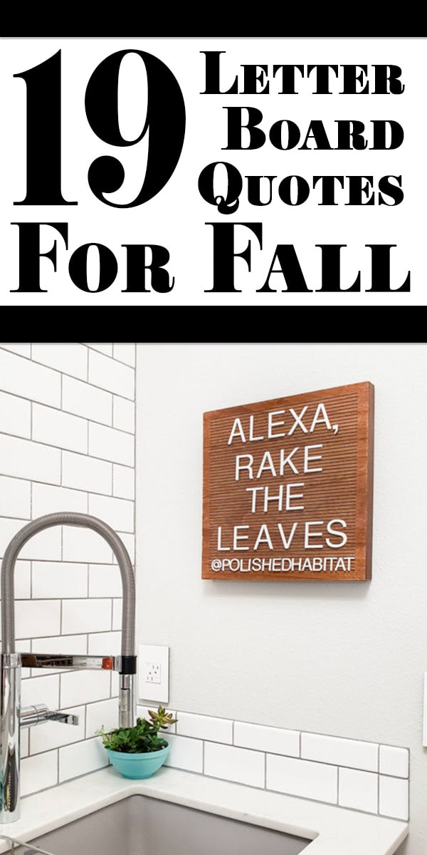 Fall Letter Board Quotes \u0026 Sayings , Polished Habitat