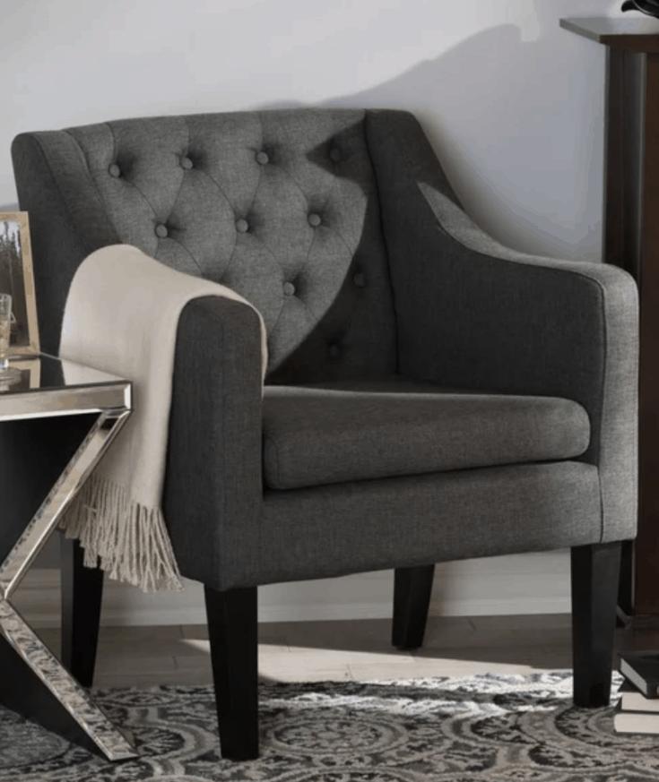 Button-tufted Modern Club Chair