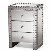 Modern Hollywood Regency Glamour Style Nightstand Bedside Table