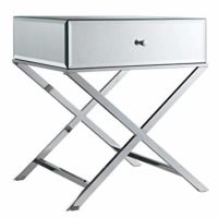 Camille X Base Mirrored Accent Campaign Table