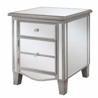 Park Lane Mirrored End Table, Silver