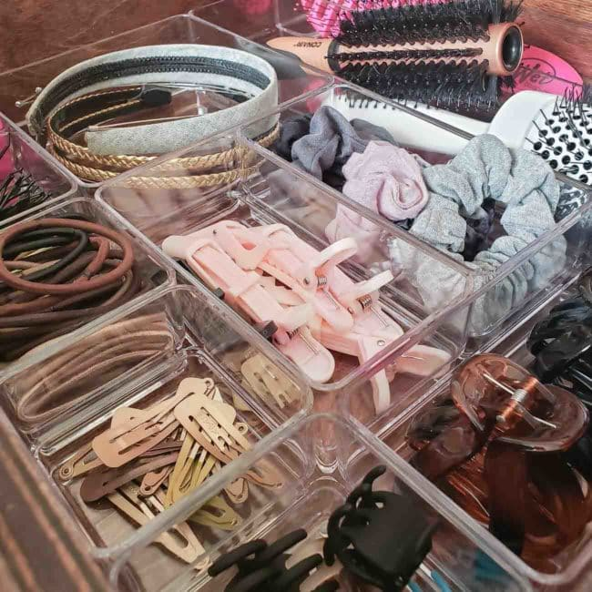 Organized hair accessories