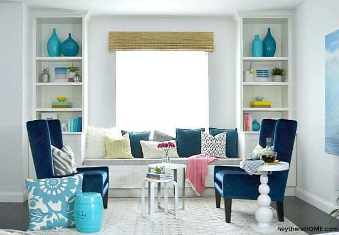 How to Build Built-In Bookshelves with Bench Seat