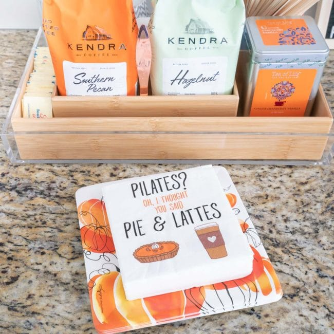 funny napkins - Pilates? I thought you said Pie & Lattes