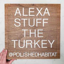 Wood Letter Board - Alexa Stuff the Turkey