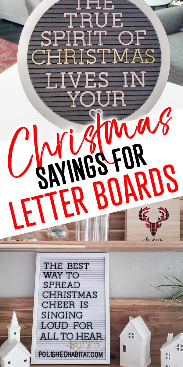 Christmas Sayings for Letter Boards