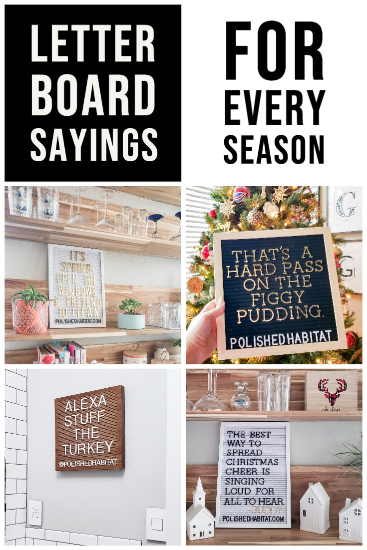 Letter Board Sayings for Every Season (With Collage of Seasonal Letter Boards)