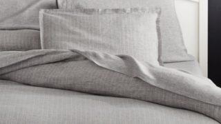 Linen Pinstripe Duvet Cover