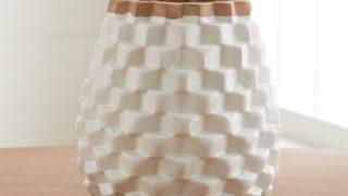 Rati White Textured Vase