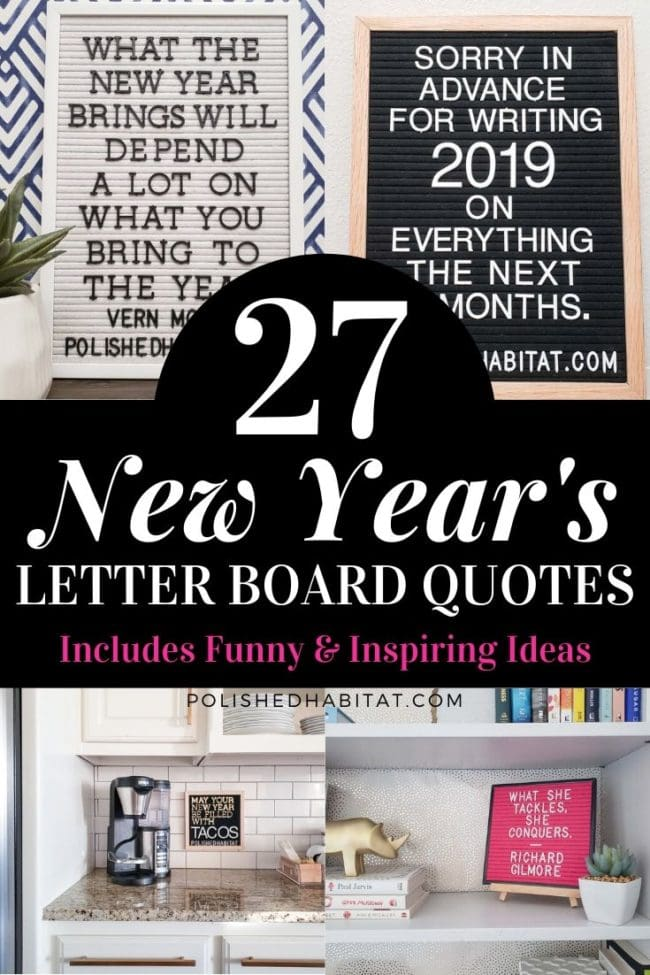 27 New Year's Letter Board Quotes