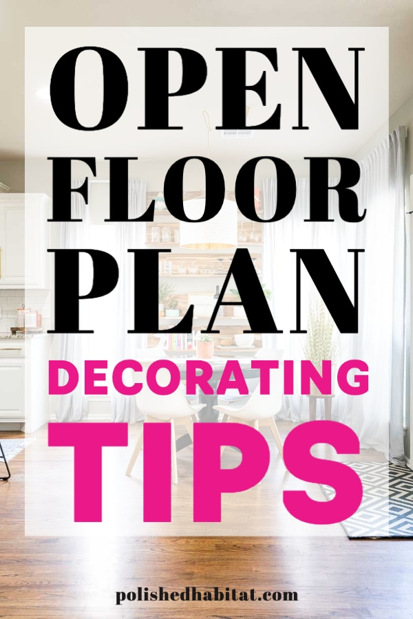open floor plan decorating