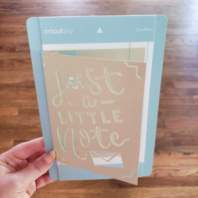 Cricut Joy Card Mat in Use