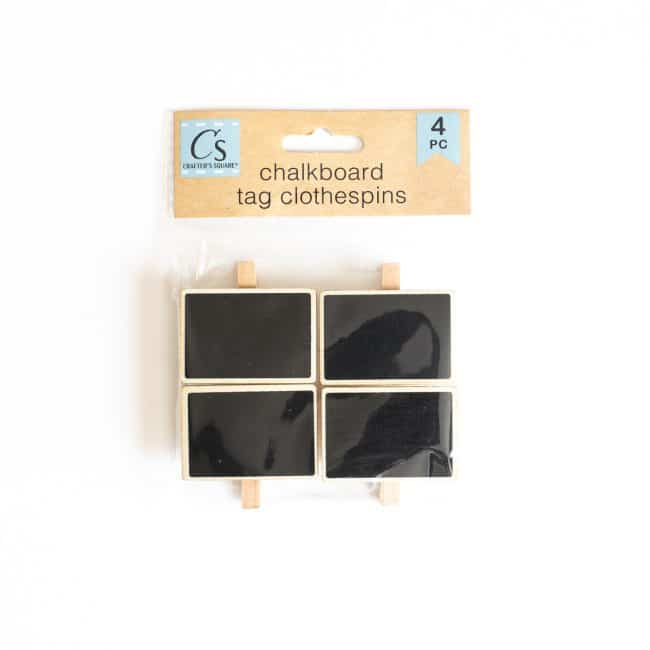 small rectangle clip on chalkboard labels